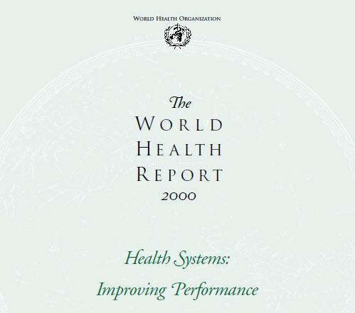 گزارش سازمان جهانی سلامت سال ۲۰۰۰
